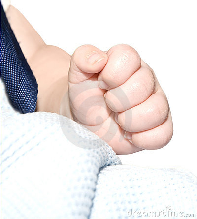Baby s Hand Making a Fist