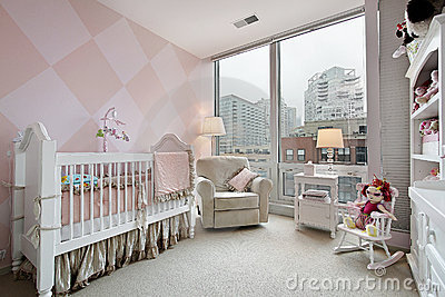 Baby s room with city view