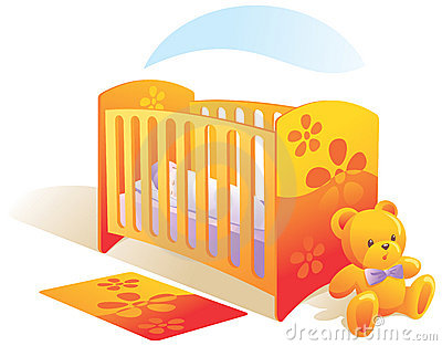 Baby s room, nursery, cot, to