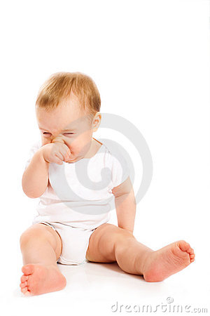 Free Baby S Scratching His Nose Stock Images - 12163454