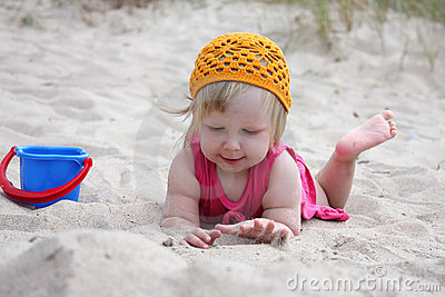 Baby on sand