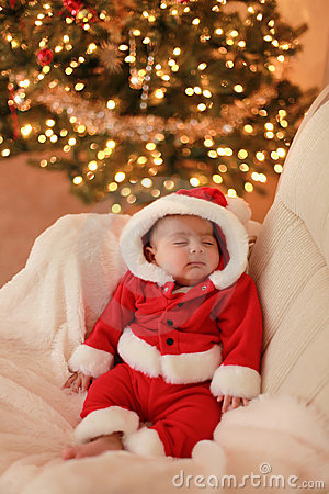 Free Baby Santa Royalty Free Stock Photo - 12068975