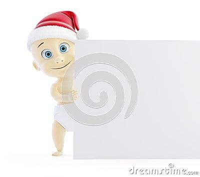 Baby santa hat form