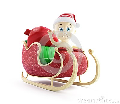Baby santa hat santa sleigh and Santa s Sack with Gifts