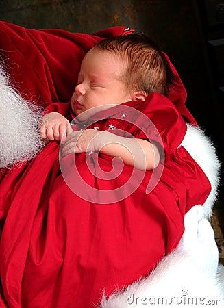 Baby in Santa s Arms