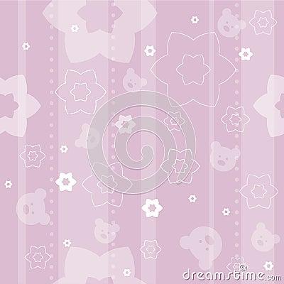 Free Baby Seamless Pattern Royalty Free Stock Photos - 5110088