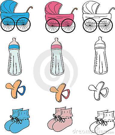 baby set: objects for babies