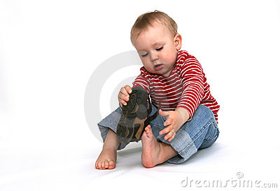 Baby and shoes