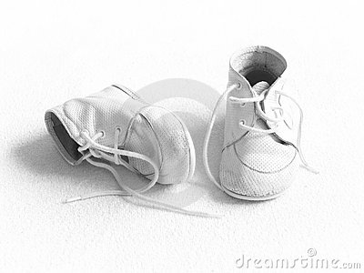 Baby shoes - BW
