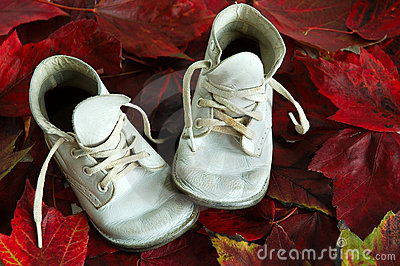 Baby Shoes Fall Leaves