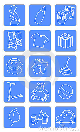 Free Baby Shop Icons Royalty Free Stock Images - 10306209