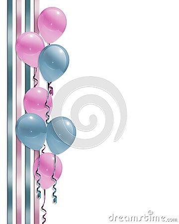 Baby shower Balloons border