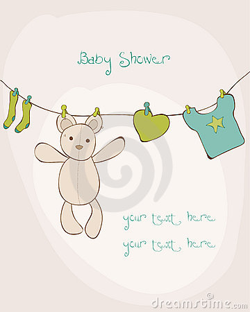 Free Baby Shower Card Stock Images - 21867174
