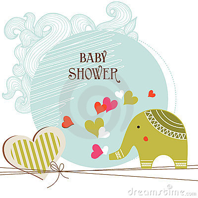 Free Baby Shower Card Stock Photo - 23641270