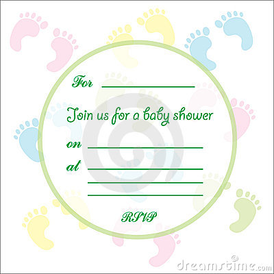 Baby Shower card feet design