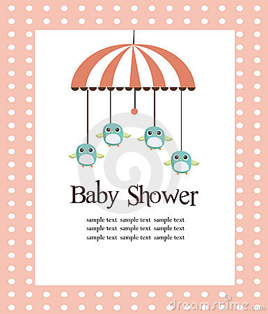 Free Baby Shower Card For Girls Royalty Free Stock Image - 13820596
