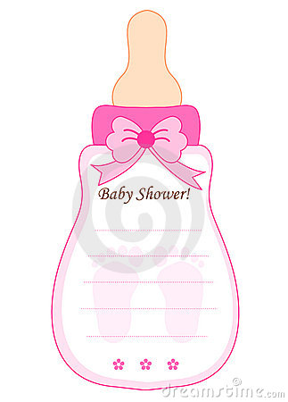 Baby shower card for girls