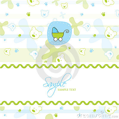 baby shower card template royalty free stock photos image 17825098