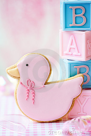 Free Baby Shower Cookie Stock Photography - 18821802