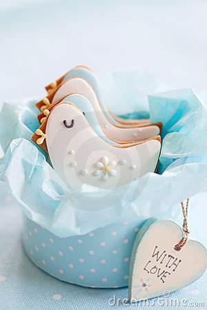 Free Baby Shower Cookies Royalty Free Stock Image - 18704396