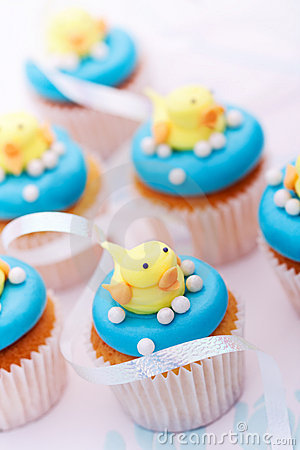 Free Baby Shower Cupcakes Royalty Free Stock Image - 18885696