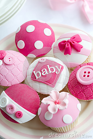 Free Baby Shower Cupcakes Stock Image - 29390811