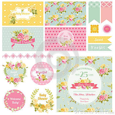Free Baby Shower Flower Theme Royalty Free Stock Photos - 52063898