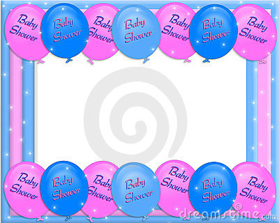 Baby shower invitation border