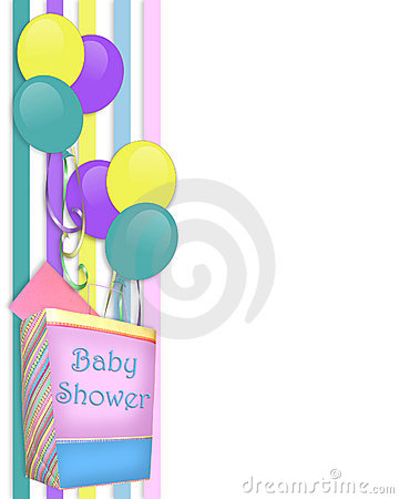 Free Baby Shower Invitation Border Royalty Free Stock Image - 9424416