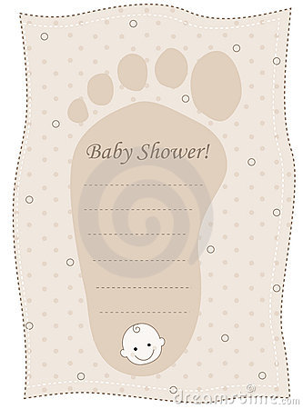 baby shower invitation card for boy and girl baby feet shaped