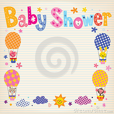baby shower invitation card stock vector  image, Baby shower invitations