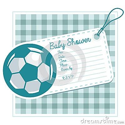 Soccer Baby Shower Invite Card