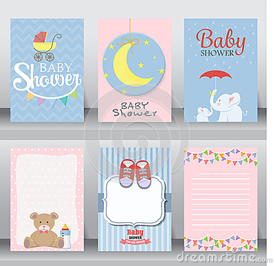 Free Baby Shower Invitation Card. Vector Royalty Free Stock Photos - 69506608