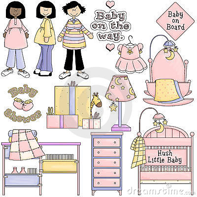 Baby Shower Pink Clipart