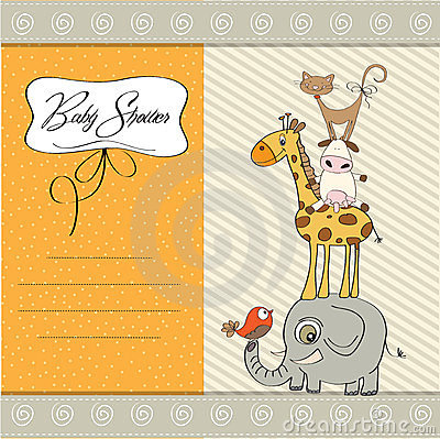 Baby shower template card