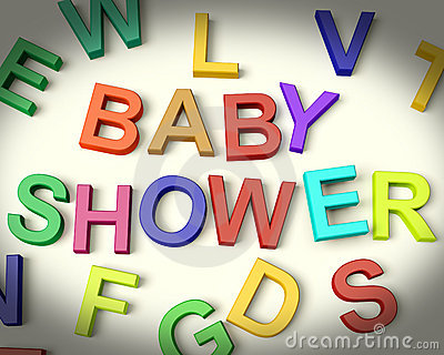 Baby Shower Written In Multicolored Letters Stock Photo - Image: 22509180