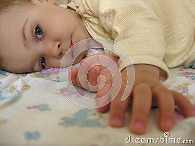 Baby after sleep