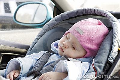 Baby sleep in a car
