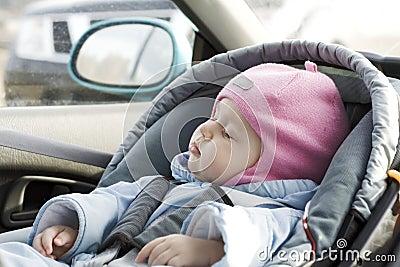 Baby sleep in a car