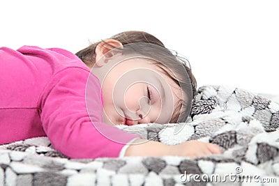 Baby sleeping on a blanket