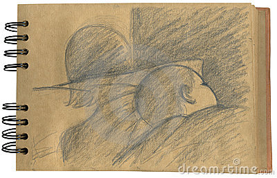 Baby sleeping- sketchbook