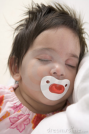 Baby sleeps with Pacifier