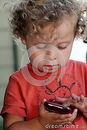 Baby on smartphone