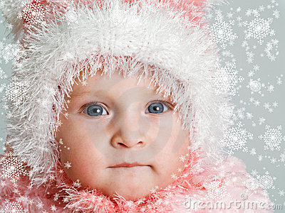 Baby and snow