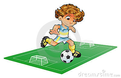 Baby Soccer Player with background