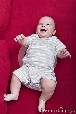 Baby on sofa