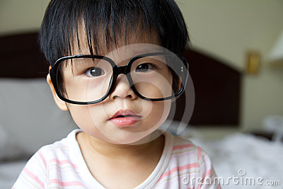 Baby in spectacles