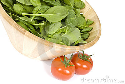 Baby Spinach and Vine Ripen Tomatoes