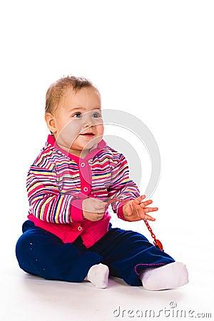 Baby in Stripy jacket