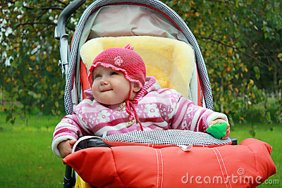 Baby in the stroller
